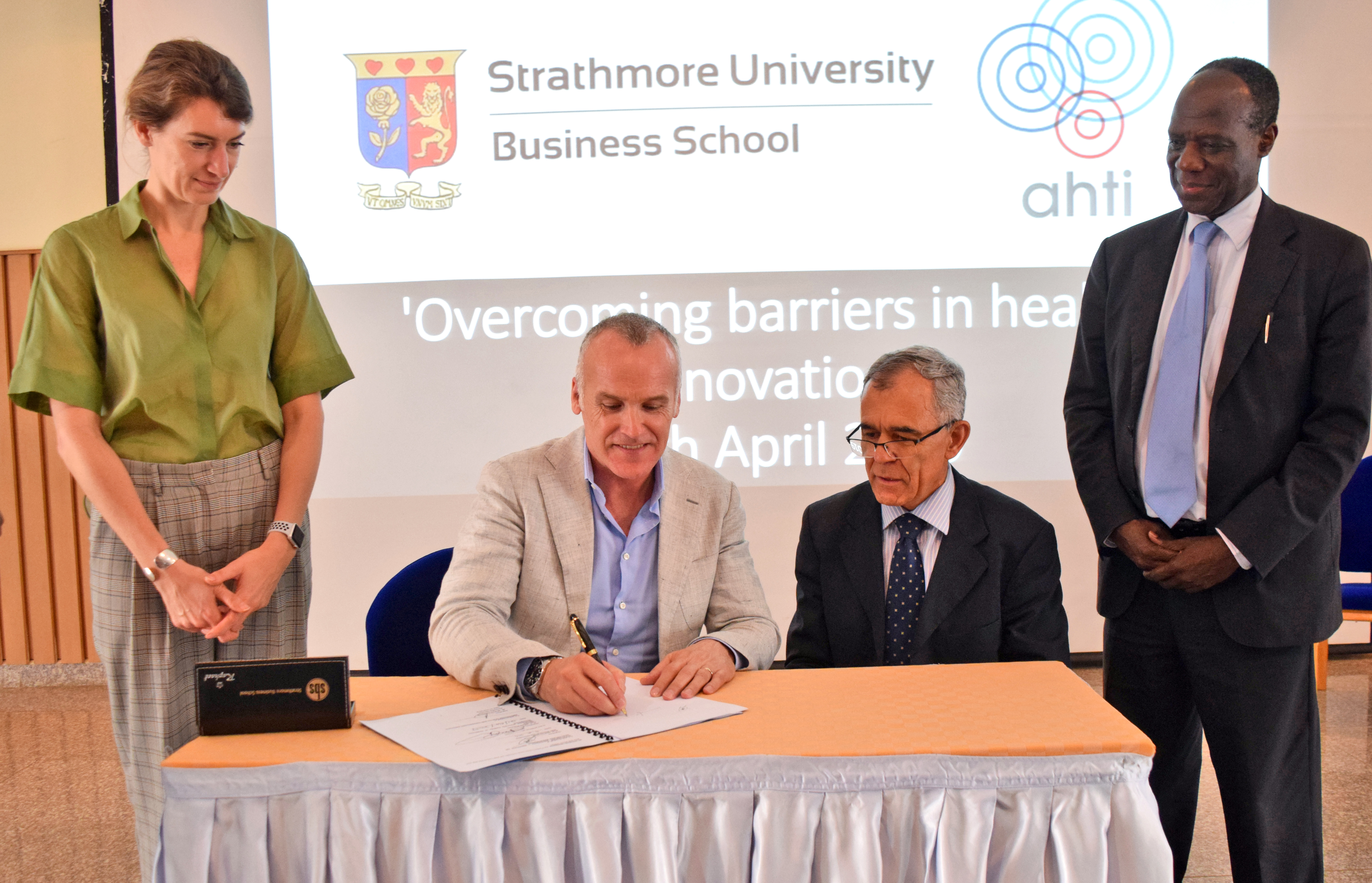 Ahti signed MoU with Strathmore to improve the healthcare